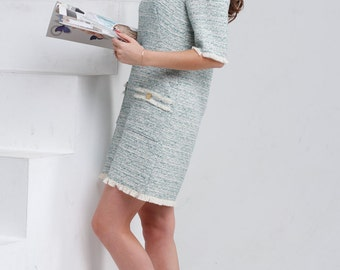 Dress from a cotton tweed