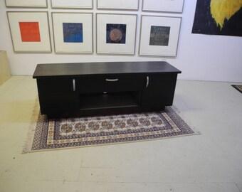 Zebra Wood Flat Screen TV Stand