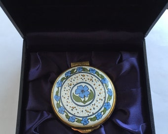 """Alastor Enamels """"BLUE FOREL"""" Trinket Box (Collectible and Rare)"""
