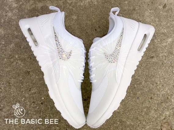 new style 86e77 609d9 free shipping Swarovski Nike Air Max Thea Running Shoes White by  THEBASICBEESHOP