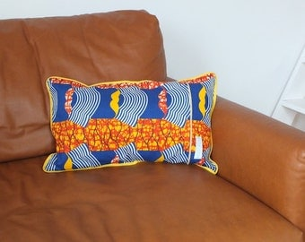 Cushion in fabric and African wax french 40x40cm (cover) ref:1042