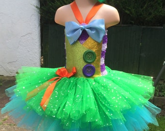 Mad Hatter tutu, alice in wonderland tutu, mad hatter costume, mad hatter dress, alice in wonderland costume, alice tutu dress, tutu and hat