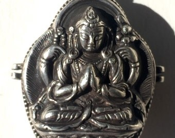 Sterling Silver Prayer Box from Nepal