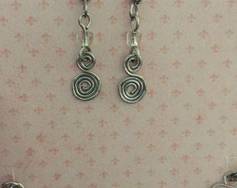 Kypress Swirl dangle earrings