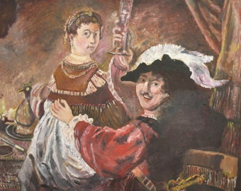 Vintage oil painting reproduction