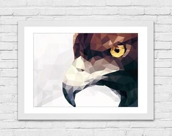 Art print / polygon / Falcon
