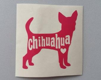 CHIHUAHUA Vinyl Decal .. Free Shipping .. Car Window Sticker Laptop Wine Glass Beer Mug Frame Sports Bottle Organizer