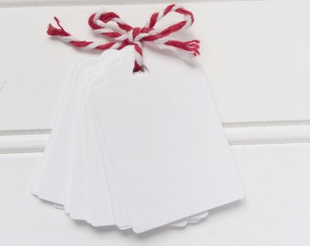 White Gift Bag Tags