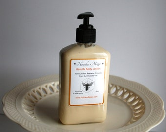 Honeybee Magic Hand and Body Lotion 8oz/Honey Beeswax Pollen Propolis/Natural Body Lotion