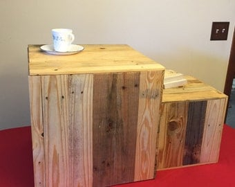 Rustic Modern End Tables