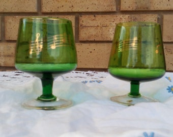 Musical Note Retro small Green Glasses