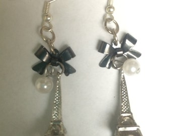 From Paris with Love Eiffel Tower dangle earrings