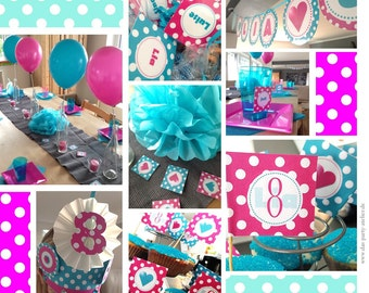 Base party set POLKA DOTS