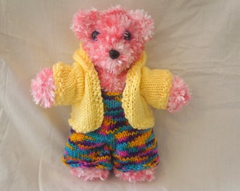 Jimmy the Cute Handmade Knitted Dressed Teddy Bear Soft Stuffed Toy
