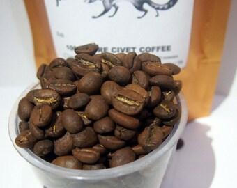 1 lb / 450grams Arabica Civet Coffee Roasted Beans - Wild Pure Indonesia Fresh Kopi Luwak