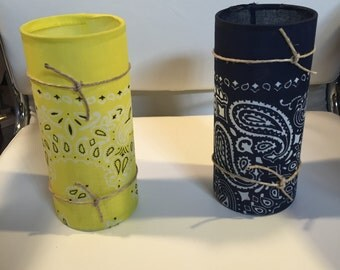 Bandana Hurricane Candle Holders
