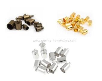 2mm - Terminators - Options - 2mm Terminators - 10/100/500/1000 - Silver, Bronze, Gold - Many Quantity and Color choice