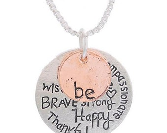 Be Happy/Thankful Pendent