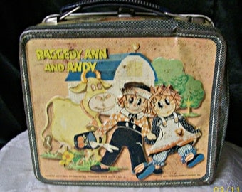 Lunch Box, Raggedy Ann And Andy metal 1973 lunch box