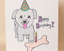 Yorkipoo (Yorkie-Poo, Yorkie-Poodle) Dog Birthday Card, Cute Dog birthday card, puppy birthday card, greeting card, puppy card, dog card
