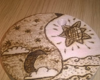 Ying, Yang pyrography custom version