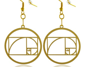 The Golden Ratio Gold   Plated  Earrings  Buy One Get One Free
