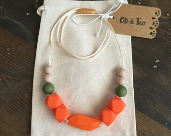 Tribe Teething Necklace, Nursing Necklace, Baby Teether,