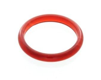 Natural Carnelian Gemstone Plain Band Ring