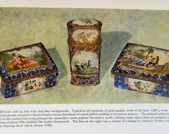 English Painted Enamels,  Therle & Bernard Hughes, Antique Collecting, English Enamels, Collectors Book, Reference Book, Free Shipping