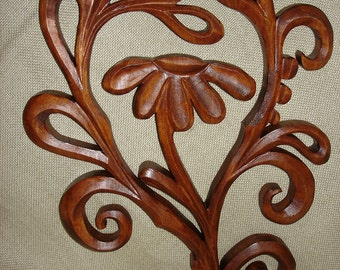 Wooden Daisy flower, Wooden flower,  Daisy wood, Handmade Daisy, Woodcarving flower,  Daisy carving wall