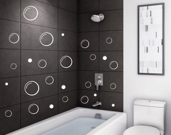 Perfect Bubbles Wall Decal / Bubble Bathroom Decal / Soap Bubble   Bathroom Decor / Bubble  Set