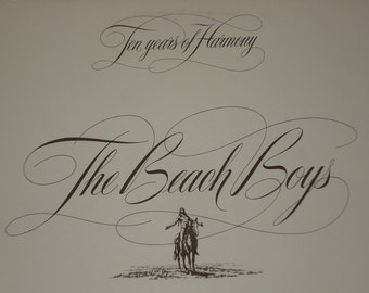 Beach Boys record album, Ten Years Of Harmony vintage vinyl record