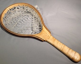 Curly Maple, Ash and Walnut Landing Net