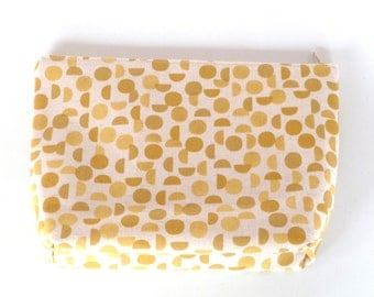 POUCH yellow graphic