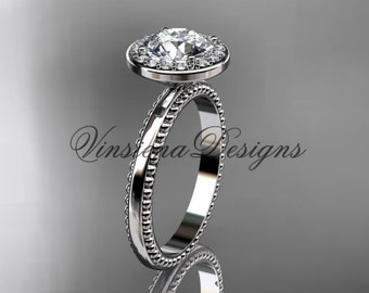 platinum engagement ring VD10078