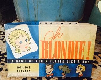Antique 1930's 'Oh Blondie!' bingo
