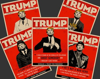 TRUMP TWENTY SIXTEEN Collectible Postcard Art Set