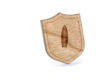 Surfboard Lapel Pin, Wooden Pin, Wooden Lapel, Gift For Him or Her, Wedding Gifts, Groomsman Gifts, and Personalized
