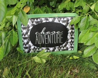 hand painted wood sign chase adventure