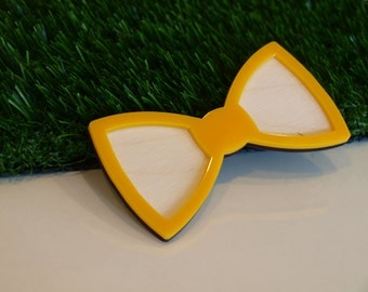 Bow tie wood and acrylic, extraordinary bow tie, unusual bow tie