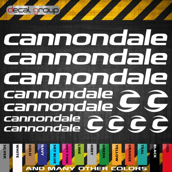 Cannondale Mtb New Replacement Mountain Bike Frame Decals