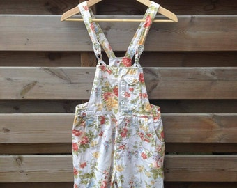 WOMENS | Vintage floral dungarees | Size S