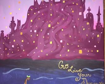 Go live your dream- Rapunzel painting