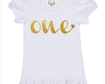 Turning One Shirt, My First Birthday, One Year Old Birthday Shirt, My 1st Birthday Outfit, Baby Girl One Year Old Birthday, Birthday Girl