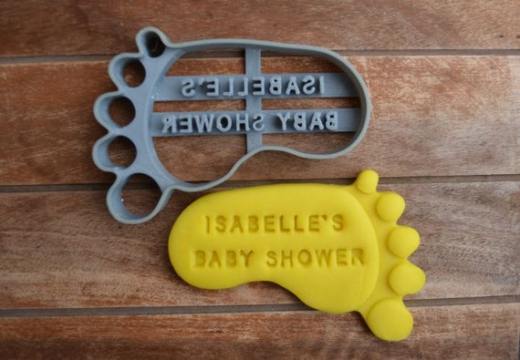 sale baby foot feet shower birth baptism christening party cookie