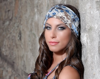 Womens Headbands, Yoga Headband, Fitness Headband, Boho Headband, Wide Headband, Hippie Headband, Workout Headband