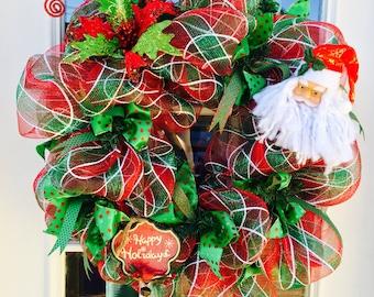 Santa's Happy Holiday Wreath