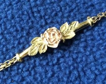 Vintage - 2 tone Rose Gold Bracelet