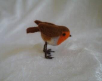 Needle felted Robin