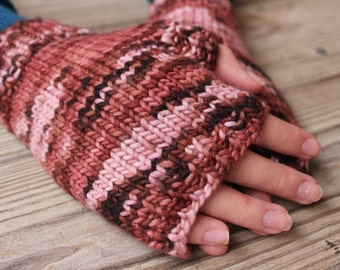 Fingerless Gloves for Fall, Wrist Warmers, Texting Gloves, Handwarmers, Wristwarmers, Handknit Mitts, Knit Mittens for Teens, Ladies